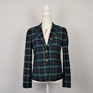 J. Crew Classic Plaid Wool Blazer